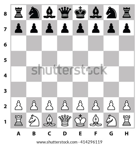 Chess board - stock vector