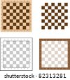 Chess board set vector illustration. - stock vector