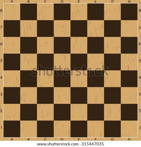 Chess board. Strategy and sport vector illustration - stock vector