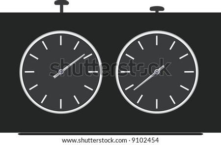 Chess clock. A contour. A vector illustration. - stock vector