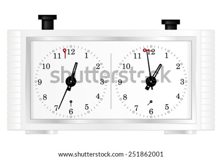 Chess clock - vector isolated - stock vector