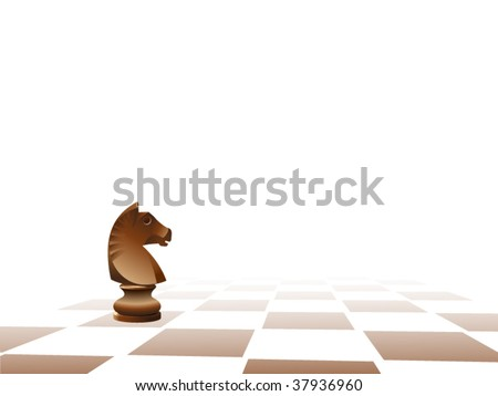 Chess figure on a chess board - stock vector