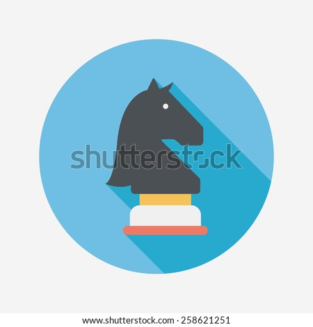 chess flat icon with long shadow,eps10 - stock vector