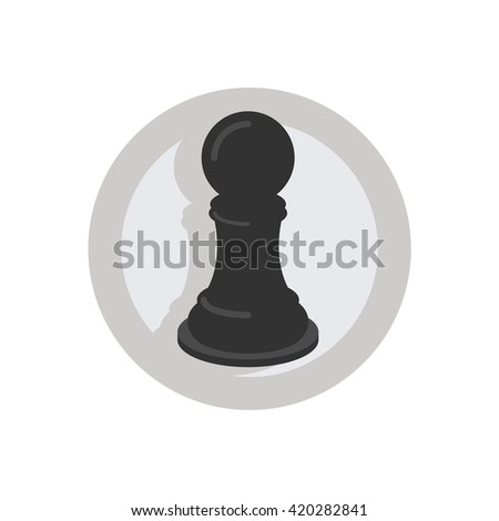 Chess Game Illustration - Flat Icon - stock vector