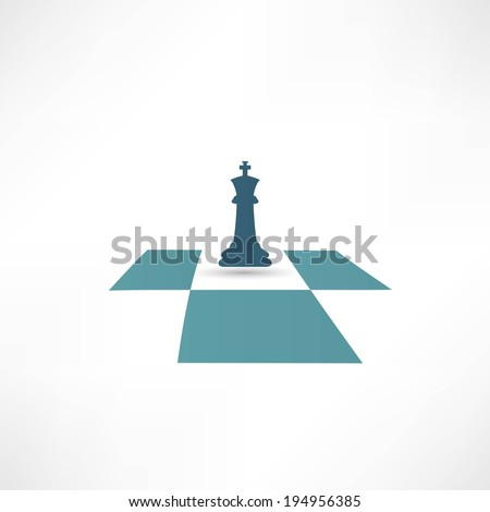 Chess icon - stock vector