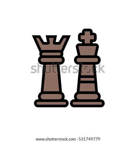 Chess Icon Checkmate Icon Illustration Isolated Vector Sing Symbol