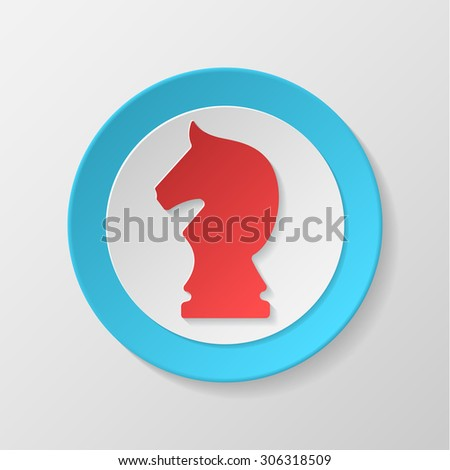 Chess icon. Knight concave icon. - stock vector