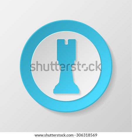 Chess icon. Rook icon. Castle concave icon. - stock vector