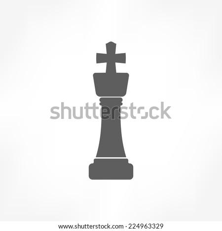 chess king icon  - stock vector