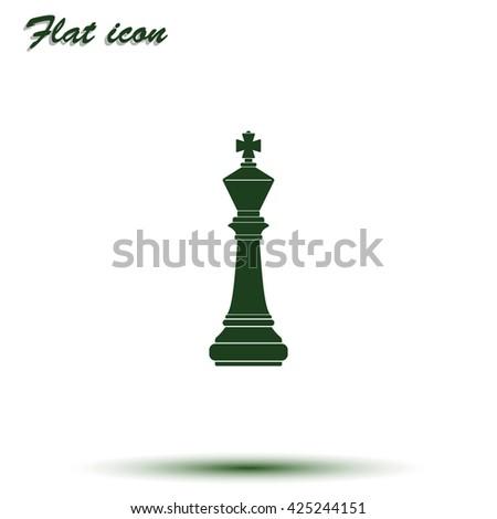 Chess king icon. - stock vector