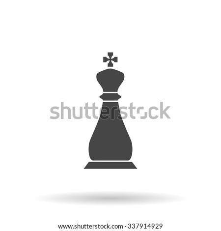 Chess king. Icon Vector - stock vector