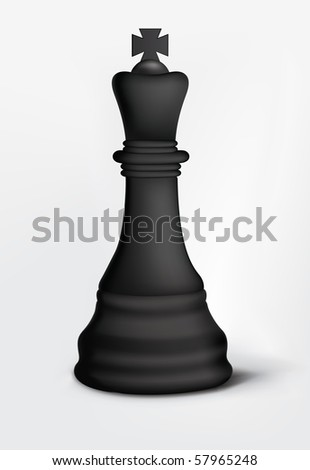 Chess King Isolated on White. Vector.