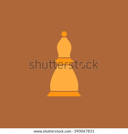 Chess officer. Flat simple modern illustration pictogram. Collection concept icon for infographic project and logo - stock vector