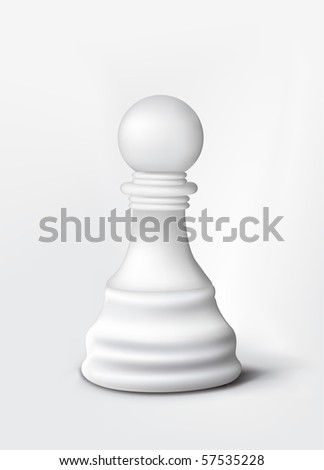 Chess Pawn Isolated on White. Vector. - stock vector
