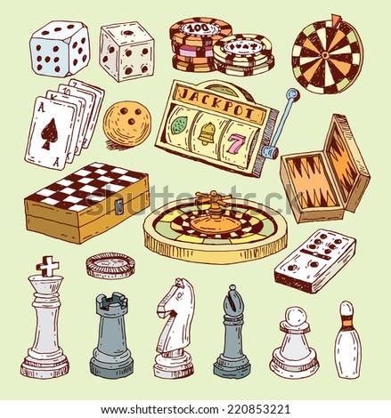 chess piece, hand drawn vector illustration. - stock vector