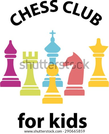 chess pieces business sign corporate, chess club, chess school standard. A set of chess pieces, puzzle game - stock vector