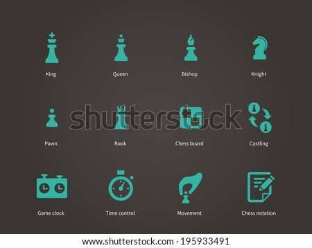 Chess pieces icons. Vector illustration. - stock vector