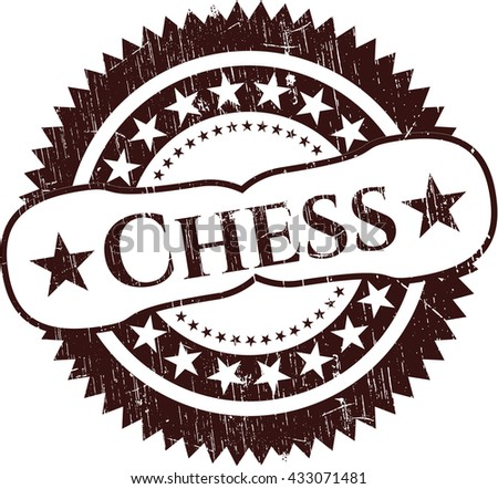 Chess rubber grunge seal - stock vector