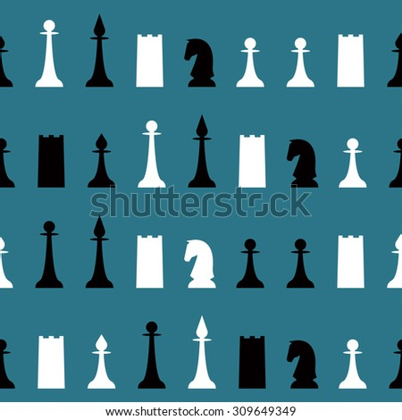 chess seamless pattern background for use in design - stock vector