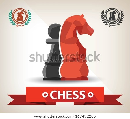 Chess symbol,Vector - stock vector