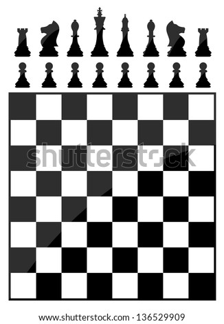 Chess table - stock vector