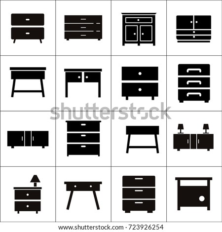 chest drawers vector icon furniture types stock vector. Black Bedroom Furniture Sets. Home Design Ideas
