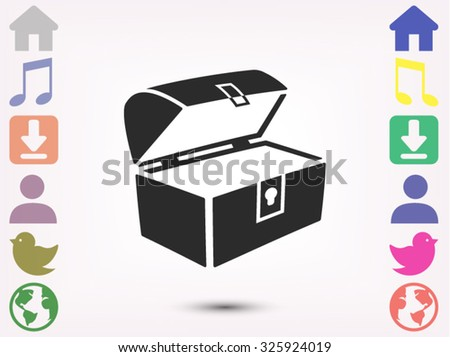 chest open  vector icon