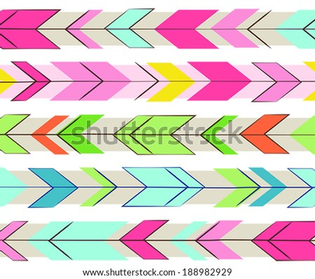 Chevron Arrows - stock vector
