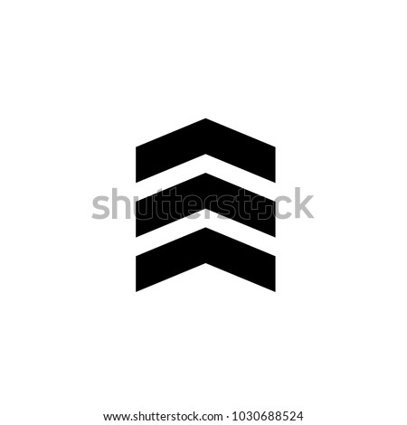 Chevron Icon Trendy Flat Style Isolated Stock Vector 1030688524