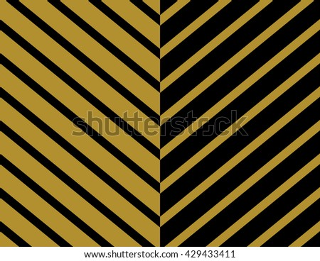 Chevron Pattern Wallpaper Design Set In Gold And Black Seamless Vector Texture Paper Background