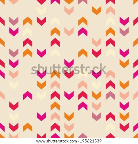 Chevron vector tile colorful pattern, texture or seamless background with zigzag stripes. Pink, violet, orange and red background, desktop wallpaper or website design element - stock vector
