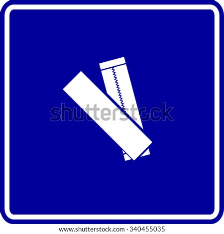 chewing gum sticks sign - stock vector