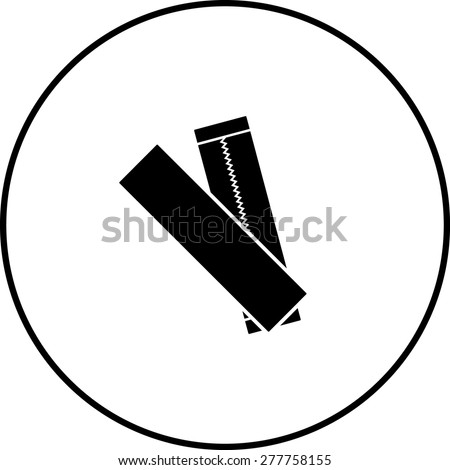 chewing gum sticks symbol - stock vector