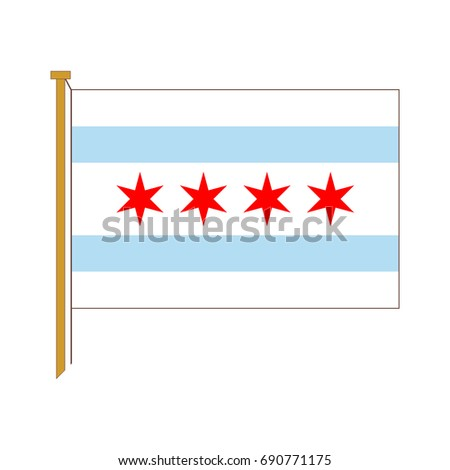 chicago flag vector stock images, royalty-free images & vectors