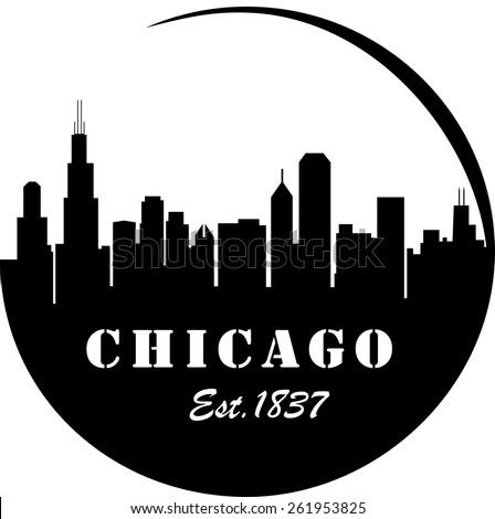 Chicago Skyline  - stock vector