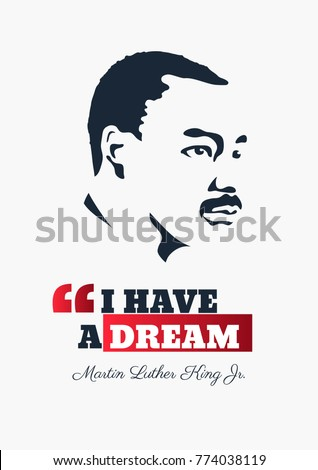 CHICAGO, USA - MARCH 24, 1967: Illustration of Martin Luther King during his speech