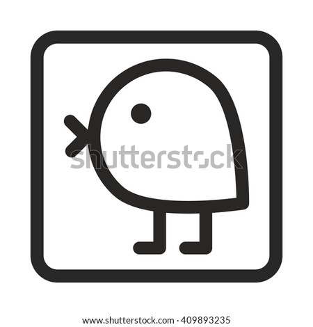 chick icon - stock vector