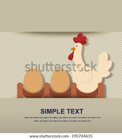 chicken and egg vector - stock vector
