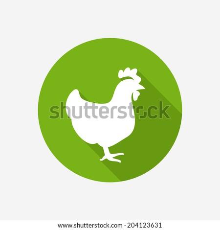 Chicken icon - stock vector