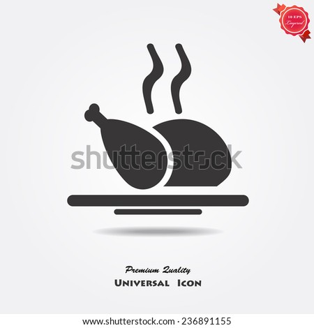 Chicken icon - stock vector