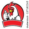 chicken mascot with thumb up - stock vector