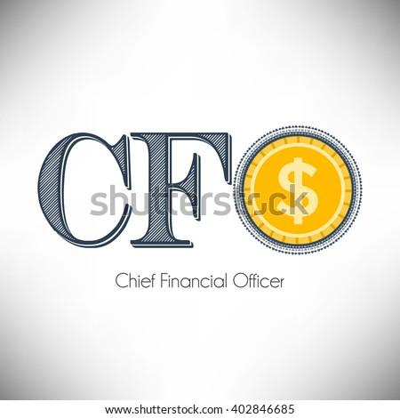 Chief Financial Officer, CFO icon vector design - stock vector