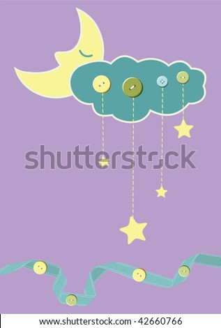 Child card - stock vector