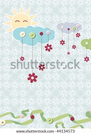 Child card. Vector - stock vector