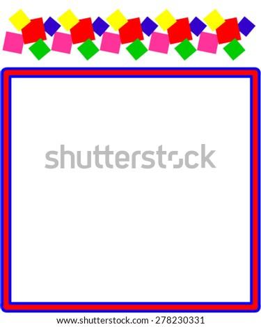 Child frame - stock vector
