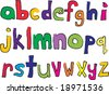 Child like lower case alphabet - stock vector