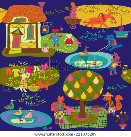 child's background - stock vector