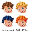 Child Smile. Funny cartoon and vector characters. - stock vector