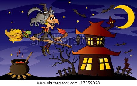 Child style halloween background