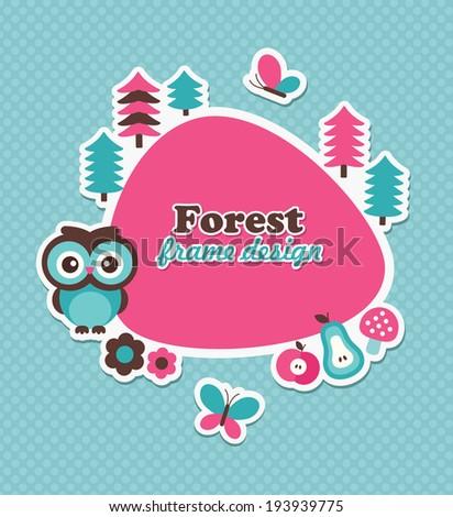 childish frame design. vector illustration - stock vector